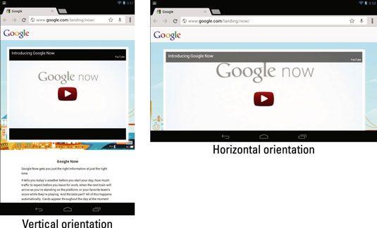 ���� - Como alterar o Nexus 7 tela Orientação