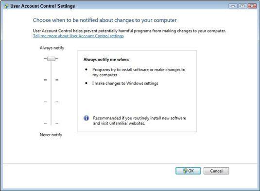���� - Como Alterar configurações de Controle de Conta no Windows 7