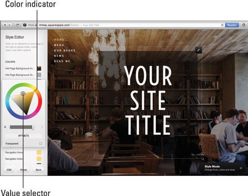 ���� - Como alterar cores do seu site no Squarespace