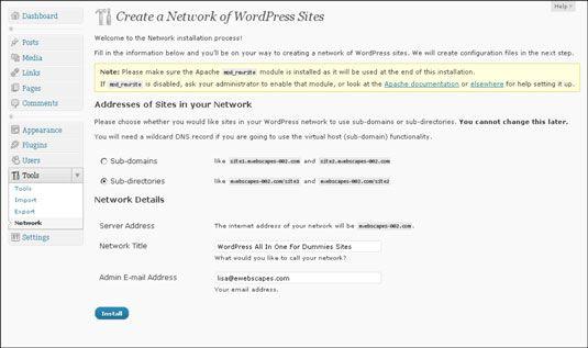���� - Como escolher entre Subdirectories e subdomínios para a sua rede WordPress