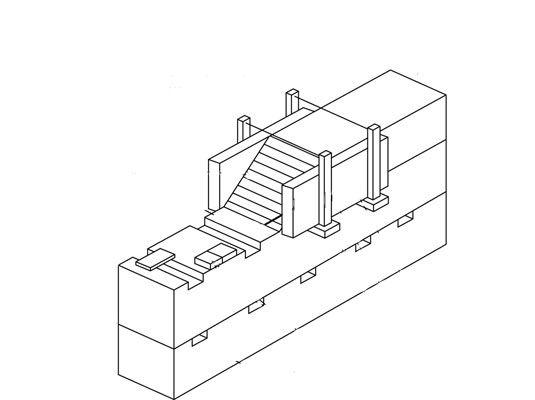 Em uma parede taipa, terra é colocada uma camada de cada vez para grandes formas para criar parede maciça
