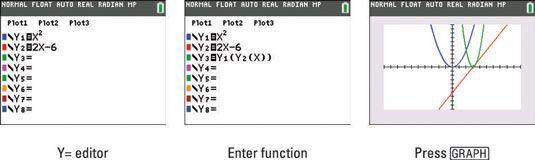 ���� - Como compor funções na TI-84 Plus