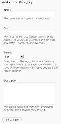 ���� - Como criar uma categoria em seu blog WordPress