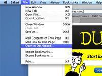 ���� - Como criar um Dashboard Widget personalizado no Mac OS X Snow Leopard