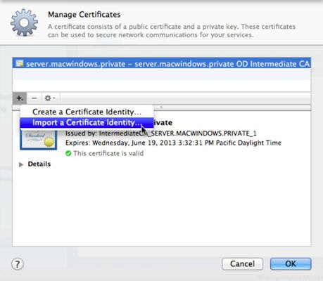 ���� - Como criar um certificado SSL em Lion Server