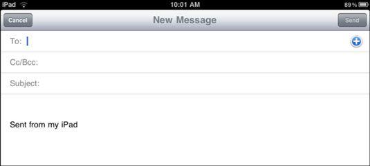 ���� - Como criar e enviar e-mail em seu iPad