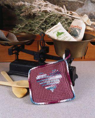 ���� - Como Crochet um Potholder com afegã Ponto