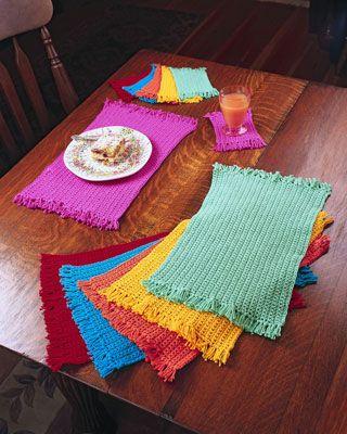 ���� - Como Crochet Placemats