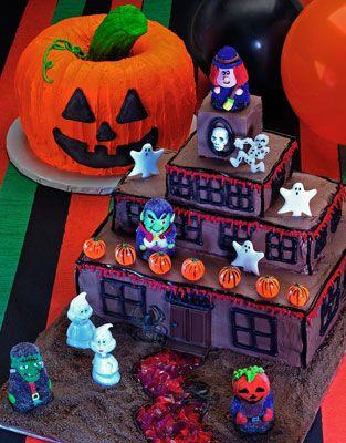 ���� - Como decorar o seu bolo de Halloween Haunted Mansion