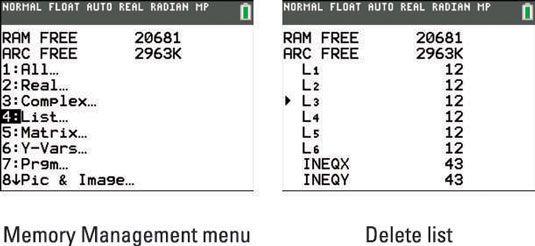���� - Como excluir e editar dados na TI-84 Plus