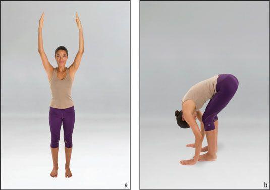 ���� - Como fazer o pe Encaminhar Bend (Uttanasana) em Yoga