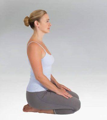 ���� - Como fazer a postura de yoga Thunderbolt (Vajrasana)