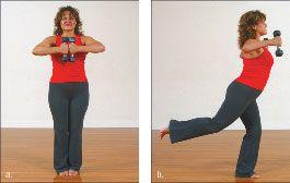 ���� - Como fazer o Yoga-com-Pesos Avião Exercício