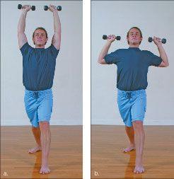 ���� - Como fazer o Yoga-com-Pesos Exaltado Guerreiro Exercício