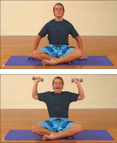 ���� - Como fazer o Yoga-com-Pesos Lion Exercício