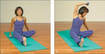 ���� - Como fazer o Yoga-com-Pesos Amor Handler Exercício