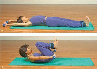 ���� - Como fazer o Yoga-com-Pesos Pérola Exercício