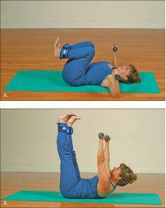 ���� - Como fazer o Yoga-com-Pesos Imprensa Exercício
