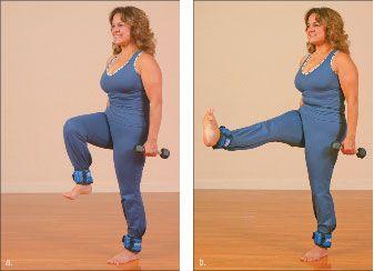 ���� - Como fazer o Yoga-com-Pesos Russian Dancer Exercício