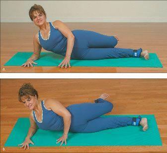 ���� - Como fazer o Yoga-com-Pesos Lateral Arco Exercício