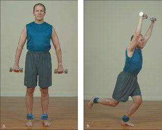 ���� - Como fazer o Yoga-com-Pesos Skater Exercício