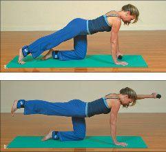 ���� - Como fazer o Yoga-com-Pesos nadador Exercício