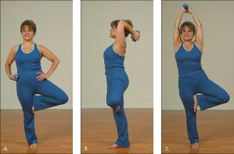 ���� - Como fazer o Yoga-com-Pesos Árvore Exercício