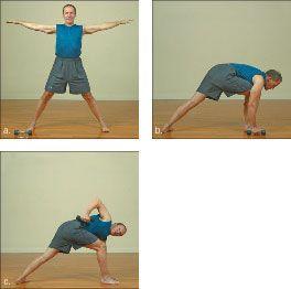 ���� - Como fazer o Yoga-com-Pesos torcida Triângulo Exercício
