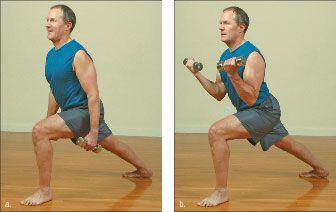 ���� - Como fazer o Yoga-com-Pesos Warrior I Exercício