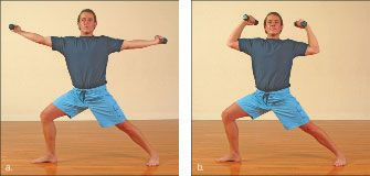 ���� - Como fazer o Guerreiro II Exercício Yoga-com-Pesos