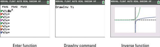 ���� - Como desenhar a inversa de uma função na TI-84 Plus