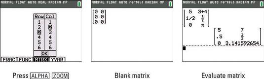 ���� - Como inserir e armazenar Matrizes na TI-84 Plus