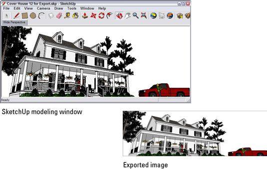 ���� - Como exportar uma imagem raster do Google SketchUp 8
