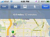 ���� - Como encontrar uma rota de transporte público com o iPhone Maps App