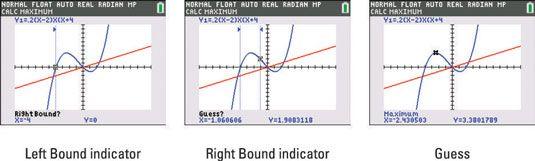 ���� - Como encontrar o mínimo e máximo de pontos em um gráfico