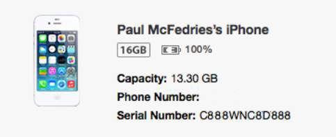 ���� - Como obter o número de série do seu iPhone