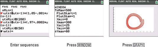 ���� - Como representar um gráfico de fase na TI-84 Plus