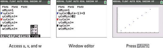���� - Como representar graficamente uma sucessão recursiva na TI-84 Plus