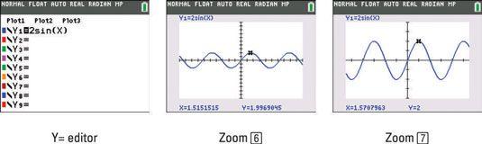���� - Como gráficos de funções trigonométricas na TI-84 Plus