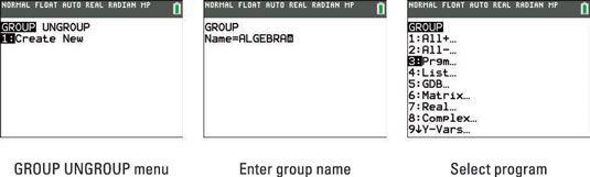 ���� - Como agrupar e desagrupar Programas da TI-84 Plus