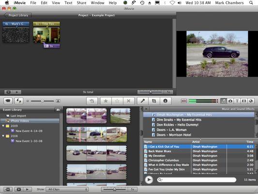 ���� - Como importar áudio para o iMovie 09 Projetos