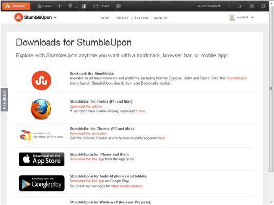 ���� - Como instalar StumbleBar de StumbleUpon