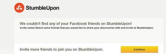 ���� - Como convidar amigos para StumbleUpon