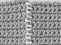 ���� - Como Aderir costuras Crochet com whipstitch