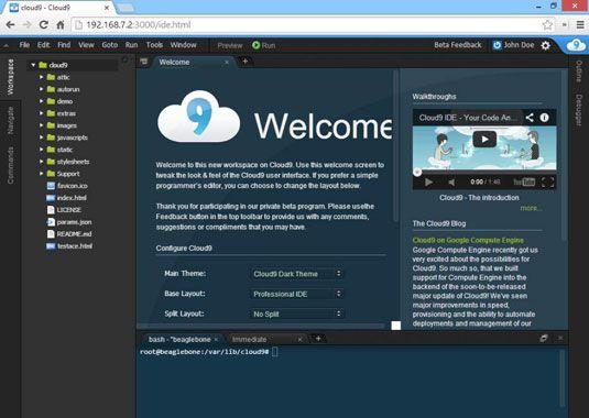 ���� - Como lançar o Cloud9 IDE em seu BeagleBone