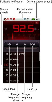 ���� - Como ouvir rádio no seu Droid X