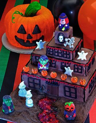 ���� - Como fazer um bolo de Halloween Jack-O-Lantern