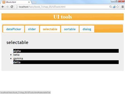 ���� - Como fazer selecionável Elements em AJAX para HTML5 e CSS3 Programação