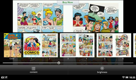 ���� - Como navegar Nook Tablet Comics Livros