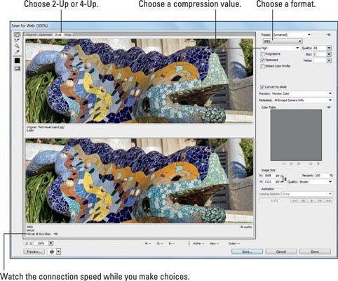 ���� - Como otimizar imagens JPEG para o seu site de mídia social